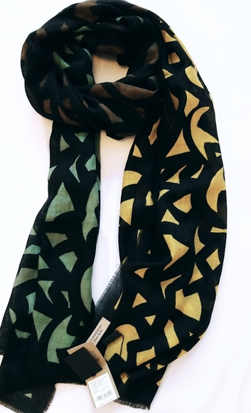 Burberry 100% silk scarf.